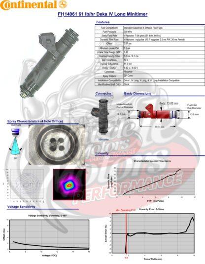 60lb/h Siemens Deka 4 Mototron High Impedance (Long Style) EV1